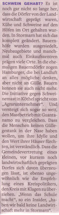 Stormarner Tageblatt 31.07.10