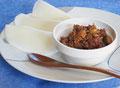 変わり肉味噌と米ティーヤ