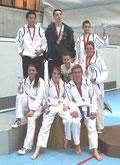Gruppe mit Medaillengewinnern
