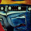 Jeans / Öl auf Leinwand / A.G.