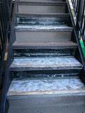 マンションの階段防水(タキステップの部分張替)