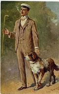 """Georg Mühlberg – """"Ein flotter Bursche"""", Student in Vollcouleur (um 1900)"""