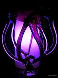 Lampe aus lila Muranoglas