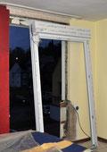 Einsatz der neuen Balkontür