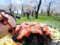 ジンギスカンが焼きあがる動画、美味しいよ~