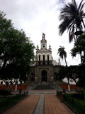 The square in front of the church in Cotacachi