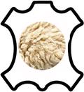 Peau de cuir d'agneau ou de mouton lainé