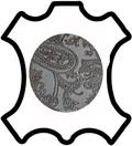 Peaux de cuir de vachette imprimée