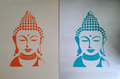 Buddha auf Leinwand