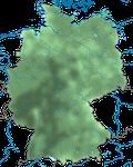 Karte zur Verbreitung der Sumpfmeise oder Nonnenmeise (Poecile palustris) in Deutschland