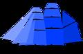 Schema d'un trois-mâts barque