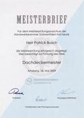 Meisterbrief von Patrick Busch