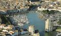 vue du ciel du port de La Rochelle