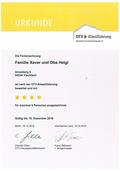 DTV-Urkunde 4-Sterne