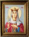 Святая Ирина.  Вышивка нитями и бисером Ирины Абросовой