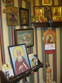 Вышитая икона Прп Арсения на иконостасе о. Якова