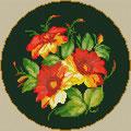 Цветы в круге
