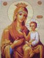 Образ Пресвятой Богородицы Черниговская. Вышила Татьяна Лазуренко
