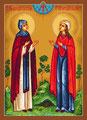 Святые Феодосия Кесарийская и Феодосия Константинопольская