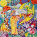 Die Mondfrau und die schönen Träume_60x60 cm_2012