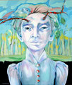 Mensch mit Meise_120x100 cm_2012