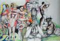 Die grausamen Goetter Griechenlands_70x100 cm_2015_Minotaurus,Polyphem,Medusa,Herakles,Kronos,Gorgonen