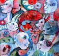 Von Menschen und Fischen_60x60 cm_2013