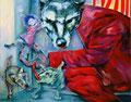 Das Maerchen vom boesen Wolf _ 120x150 cm