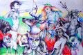 Die geilen Götter_2_70x100_2015_Athene,Eros,Kerberos,Hades,Orpheus+Eurydike,Pan,Satyr,Medusa,Kentaur