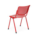 43 Stuhl mit Lochblech-Sitzgarnitur passen zu den Traversenbänken