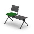 27 BFAFL1 einsitzig mit Tisch, A-Fuß freistehend, Sitzpolster