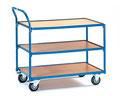 29 Tischwagen mit 3 Ebenen, 400 kg Tragkraft, Ladefläche 850x500 oder 1000x700 mm