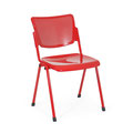44 Stuhl mit Lochblech-Sitzgarnitur passen zu den Traversenbänken