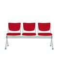 36 BFFP Traversenbank freistehend mit festen Sitzen, 3-sitzig, PP-Garnitur gepolstert, Klappsitze optional