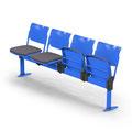 22 BBKK Viersitzer mit Klappsitz, Bodenbefestigung, Sitzpolster