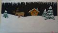 Chalet dans la neige