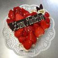 Creme Bavaroise Erdbeer Herztorte