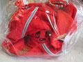 Handtuch, Nuscheli, Lätzli und Nuggikette bestickt mir Bär in rot