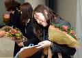退部者への花束・記念品贈呈