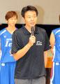 小嶋ヘッドコーチ挨拶。