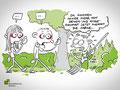 Glossen-Illustration/Cartoon für das Mitarbeitermagazin Hasselpogg vom Umweltbetrieb Bremen