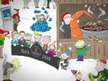 Wimmelbild Illustrationen für den Mercedes-Benz Adventskalender 2018, GfG Bremen