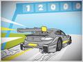 Rennwagen-Illustration für eine Präsentation, GfG, Mercedes Benz, Bremen