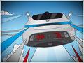 Drohnen-Illustration für eine Präsentation, GfG, Mercedes Benz, Bremen
