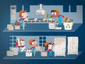 Grafiken für den BUND Bremen, Illustrationen für den Online Plastikleitfaden