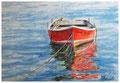 Das rote Boot (30x40 mit PP)