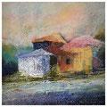 Häuser am Wald (Triptychon) (30x30)