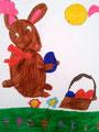 Lapin de Pâques de Clément, 5 ans et demi (technique mixte)