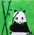 Panda de Lucie, 9 ans (acrylique sur toile)