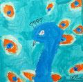Paon de Olivia, 7 ans (acrylique)